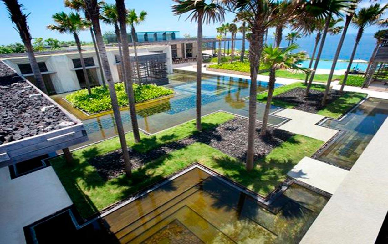 ландшафтный дизайн гостиницы